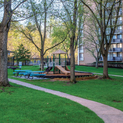 College Park apartment playground